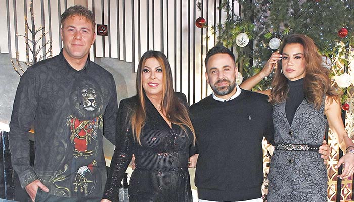 Από αριστερά: Χρήστος Χολίδης, Αντζελα Δημητρίου, Γιώργος Γιαννιάς και Ειρήνη Παπαδοπούλου