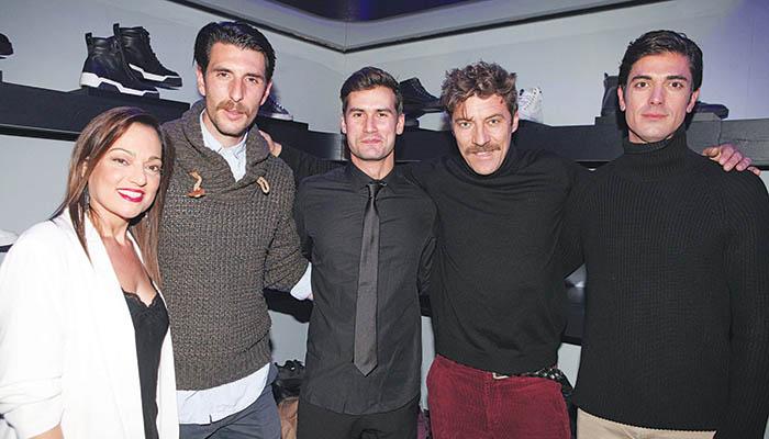 Καρακάση, Γεροντιδάκης, Ροϊλός, Στάνκογλου και Γκοτσόπουλος στο event της Diesel