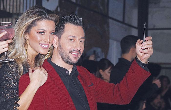 Ο Καλίδης με τη σύζυγό του Λεάννα Μάρκογλου