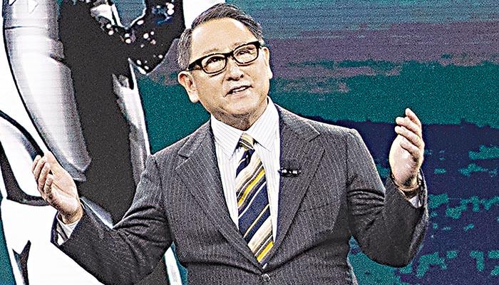 Ο πρόεδρος της Toyota Ακιο τογιόντα