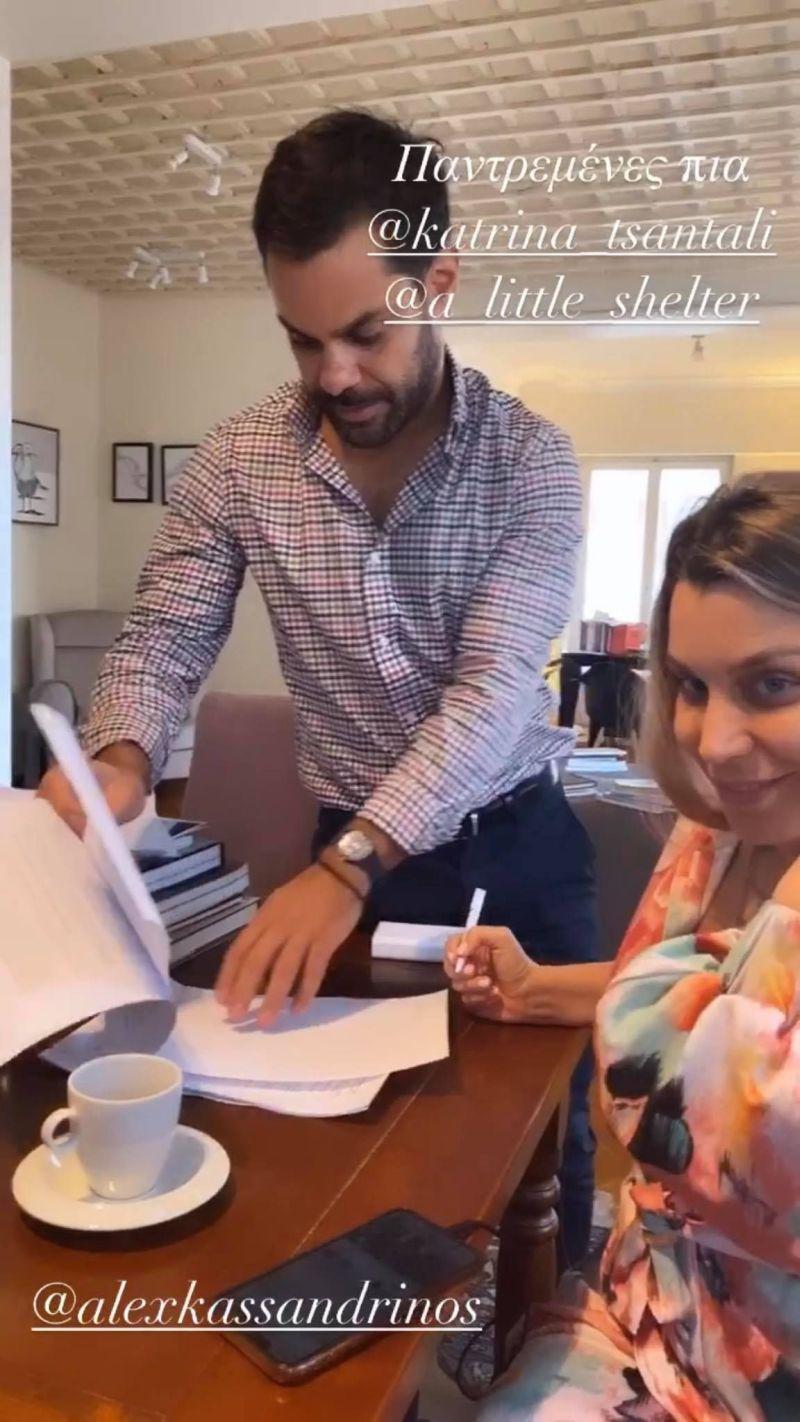4 Ο δικηγόρος Αλέξανδρος Κασσανδρινός και η Κατρίνα Τσάνταλη κατά την υπογραφή του καταστατικού